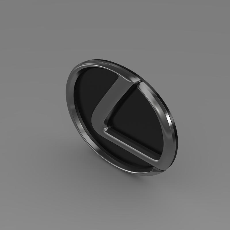 lexus motors logo 3d model 3ds max fbx c4d lwo ma mb hrc xsi obj 151507