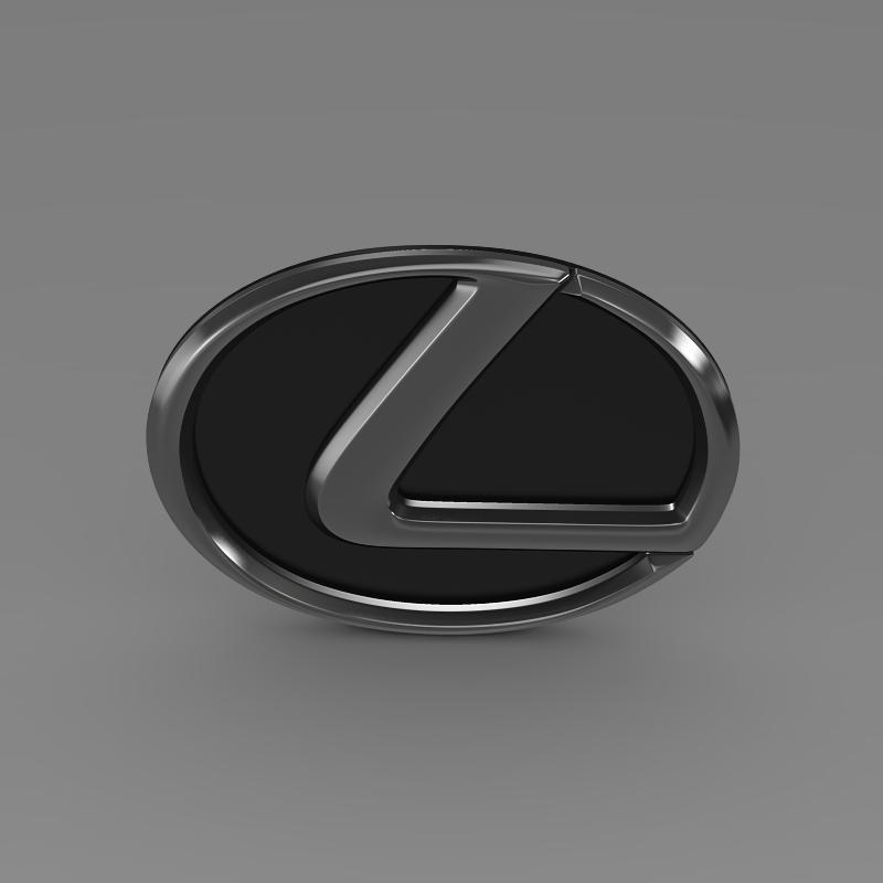 lexus motors logo 3d model 3ds max fbx c4d lwo ma mb hrc xsi obj 151508
