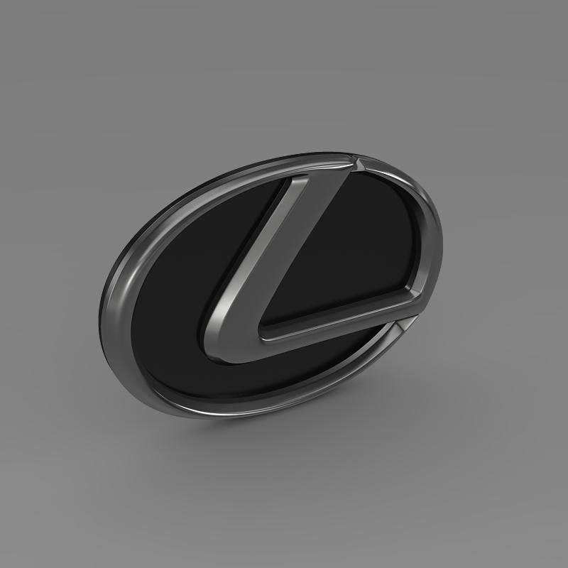 lexus motors logo 3d model 3ds max fbx c4d lwo ma mb hrc xsi obj 151509