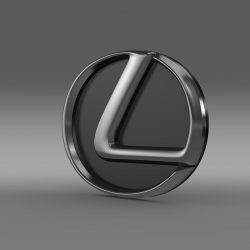 Lexus motors logo 3d model 0