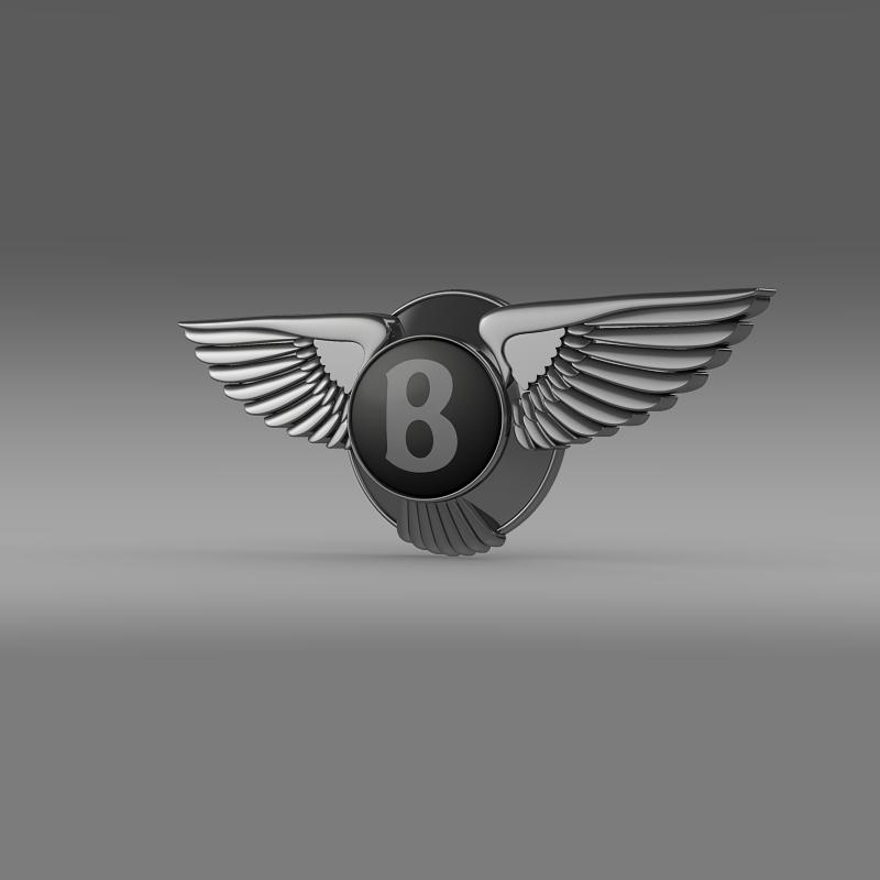 logo bentley 3d model 3ds max fbx c4d lwo ma mb hrc xsi obj 119018