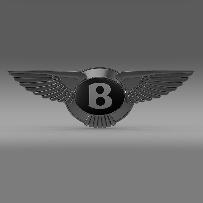 logo bentley 3d model 3ds max fbx c4d lwo ma mb hrc xsi obj 119019