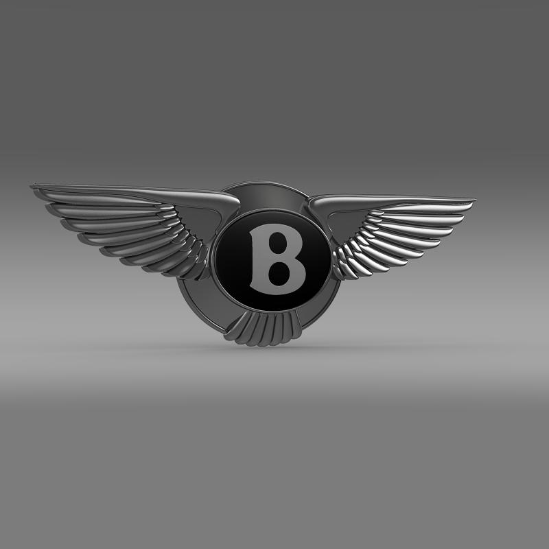 logo bentley 3d model 3ds max fbx c4d lwo ma mb hrc xsi obj 119020