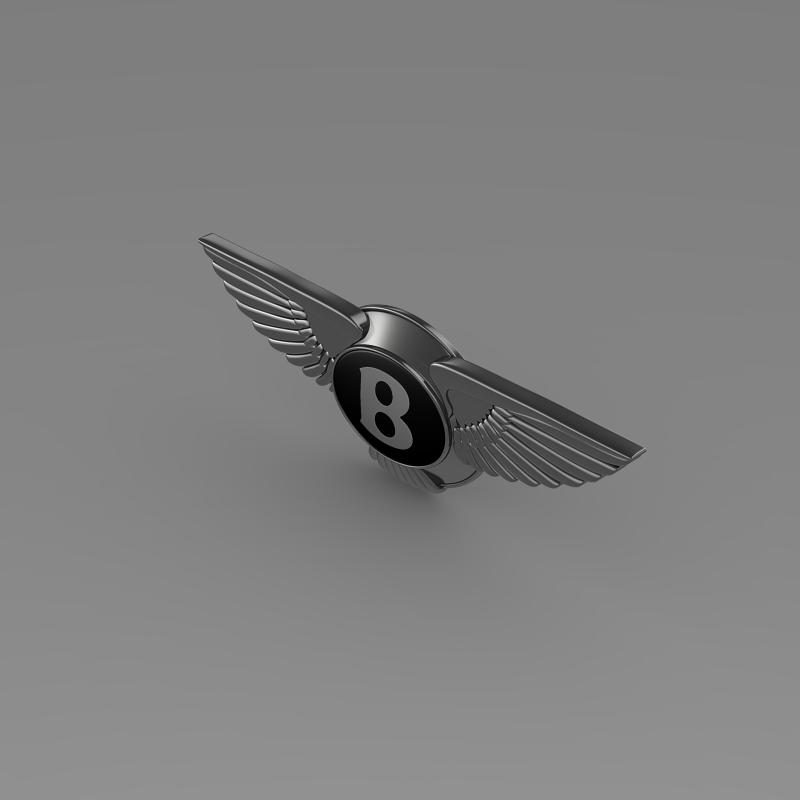 logo bentley 3d model 3ds max fbx c4d lwo ma mb hrc xsi obj 119021