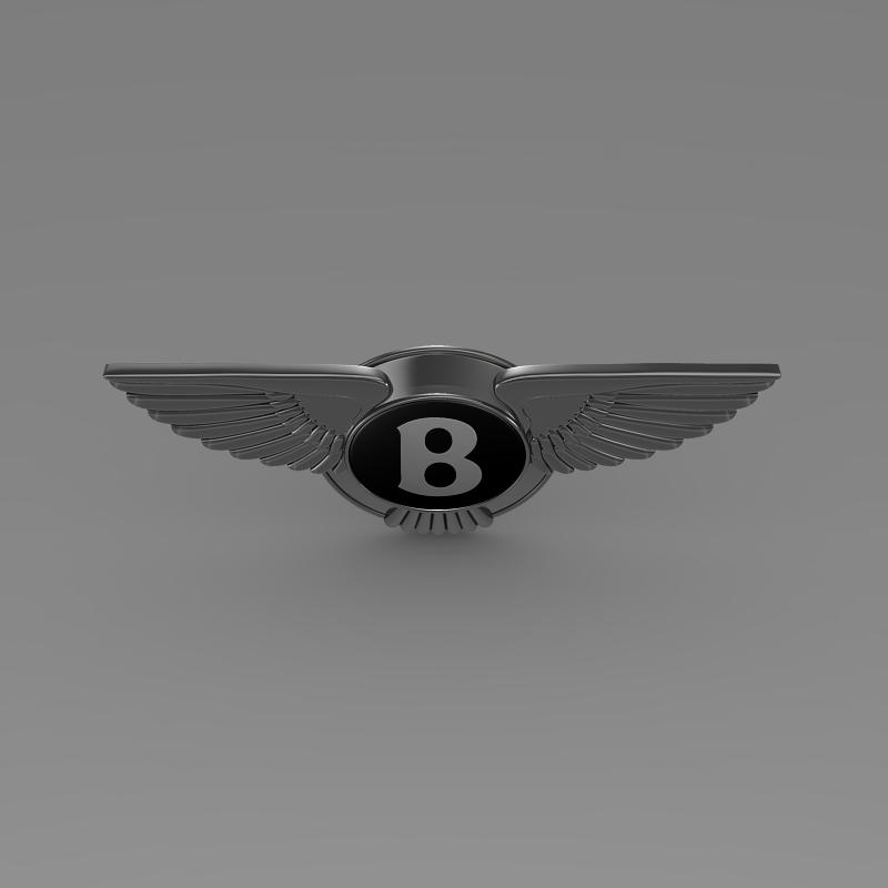 logo bentley 3d model 3ds max fbx c4d lwo ma mb hrc xsi obj 119022