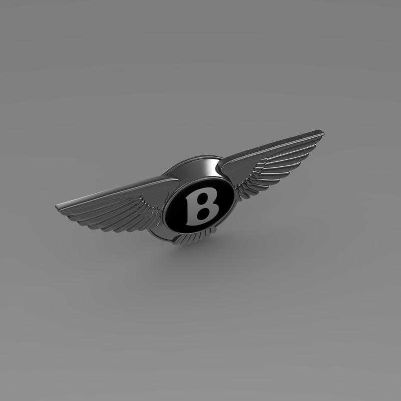 logo bentley 3d model 3ds max fbx c4d lwo ma mb hrc xsi obj 119023