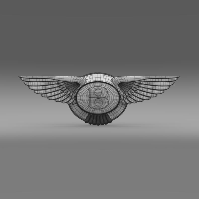 logo bentley 3d model 3ds max fbx c4d lwo ma mb hrc xsi obj 119024