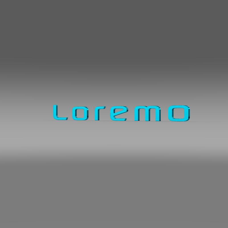 loremo logo 3d model 3ds max fbx c4d lwo ma mb hrc xsi obj 152418