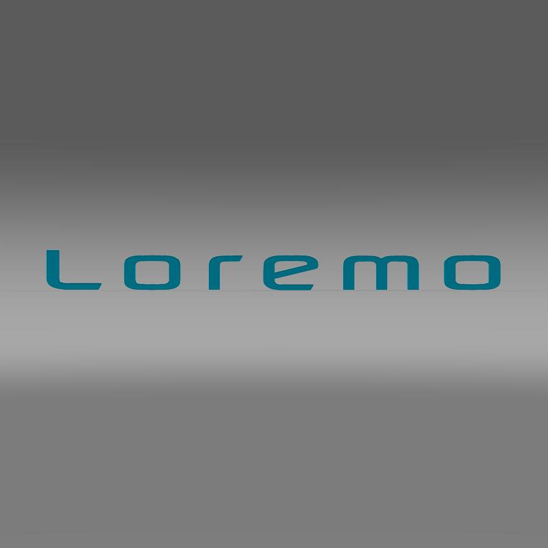 Loremo Logo 3D Model – Buy Loremo Logo 3D Model