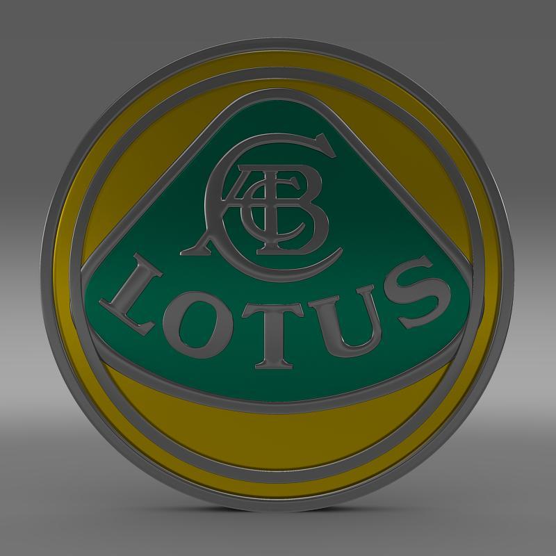 lotus logo 3d model 3ds max fbx c4d lwo ma mb hrc xsi obj 119201