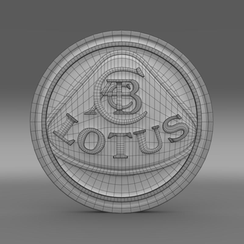 lotus logo 3d model 3ds max fbx c4d lwo ma mb hrc xsi obj 119206