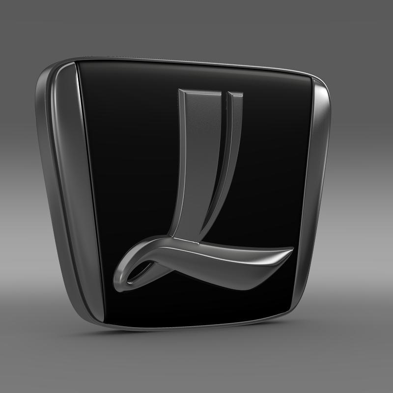 luxgen logo 3d model max fbx c4d lwo ma mb hrc xsi obj 151513