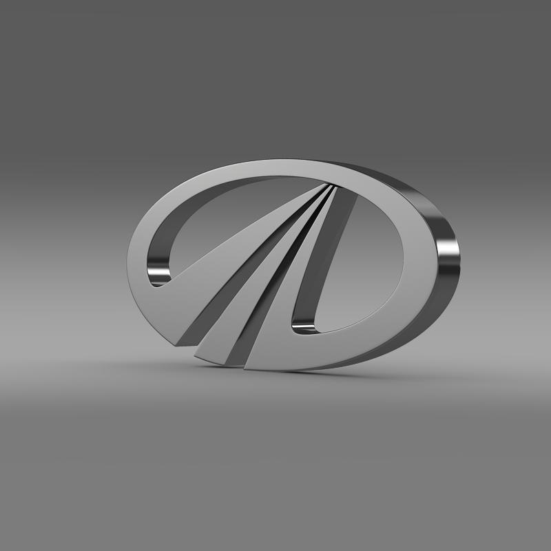 mahindra logo 3d model 3ds max fbx c4d lwo ma mb hrc xsi obj 117583
