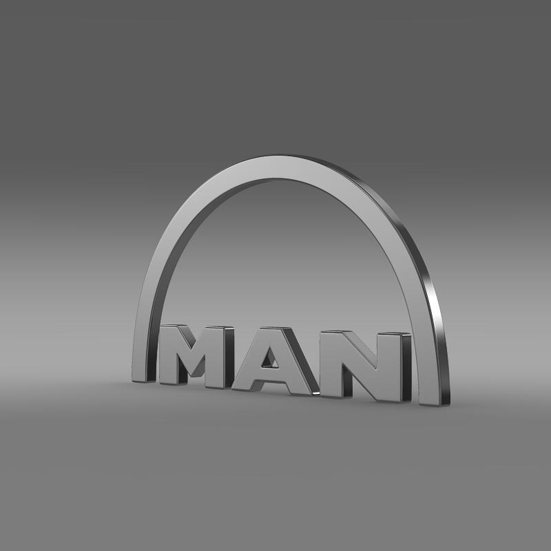 man logo 3d model 3ds max fbx c4d lwo ma mb hrc xsi obj 119232