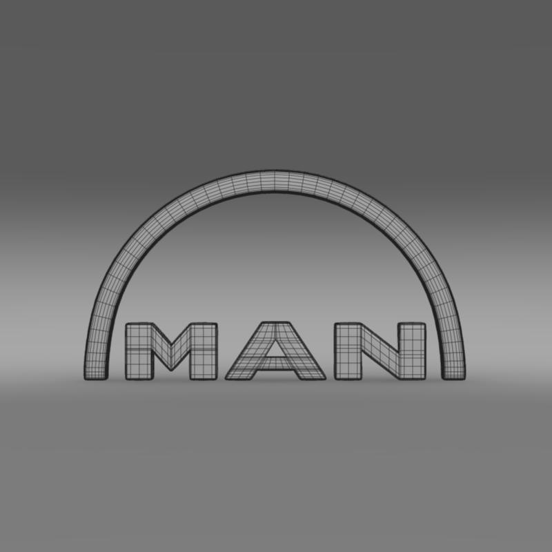 man logo 3d model 3ds max fbx c4d lwo ma mb hrc xsi obj 119238