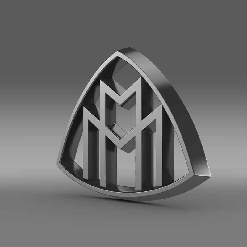maybach logo 3d model 3ds max fbx c4d lwo ma mb hrc xsi obj 117614