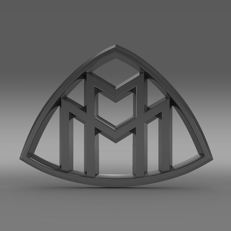 maybach logo 3d model 3ds max fbx c4d lwo ma mb hrc xsi obj 117615