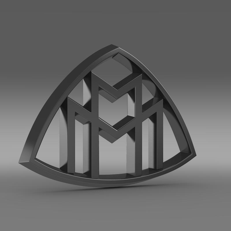 maybach logo 3d model 3ds max fbx c4d lwo ma mb hrc xsi obj 117616