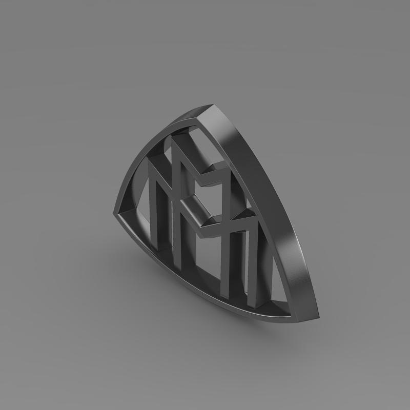 maybach logo 3d model 3ds max fbx c4d lwo ma mb hrc xsi obj 117617