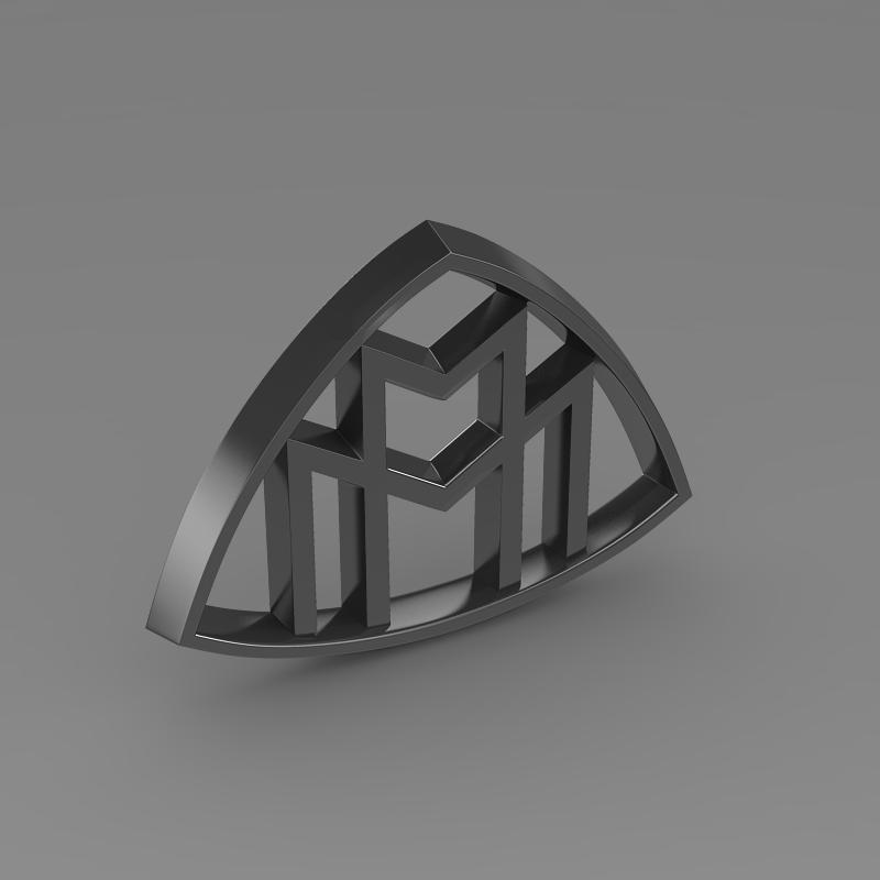 maybach logo 3d model 3ds max fbx c4d lwo ma mb hrc xsi obj 117619