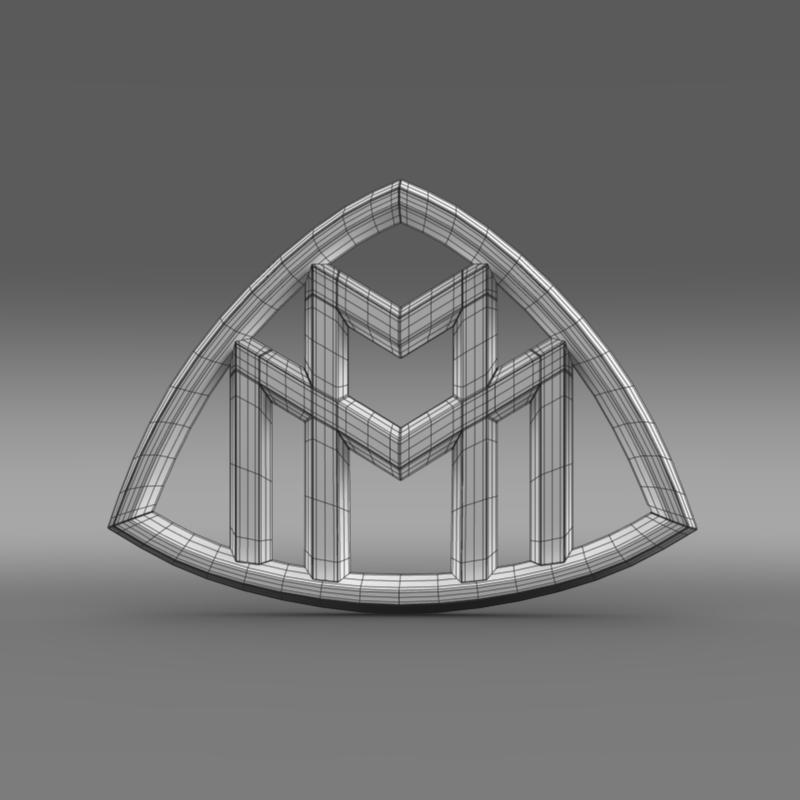 maybach logo 3d model 3ds max fbx c4d lwo ma mb hrc xsi obj 117620