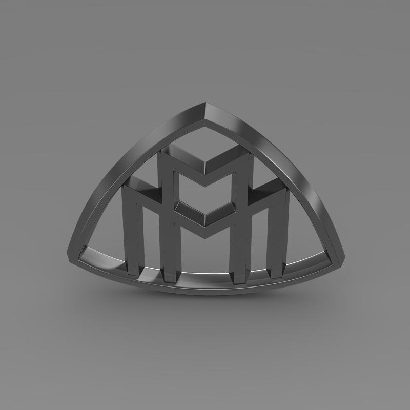 maybach logo 3d model � buy maybach logo 3d model