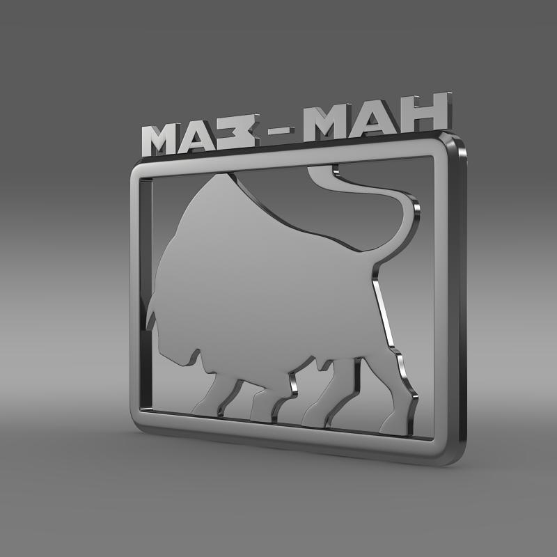 maz man logo 3d model 3ds max fbx c4d lwo ma mb hrc xsi obj 152439