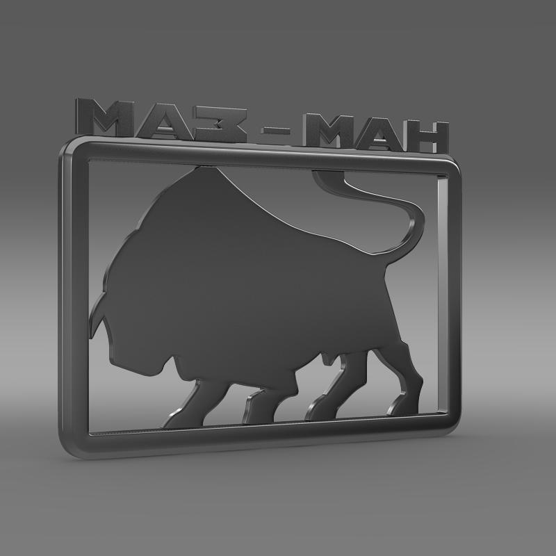 maz man logo 3d model 3ds max fbx c4d lwo ma mb hrc xsi obj 152440
