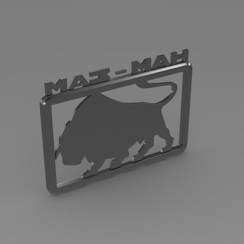 maz man logo 3d model 3ds max fbx c4d lwo ma mb hrc xsi obj 152443