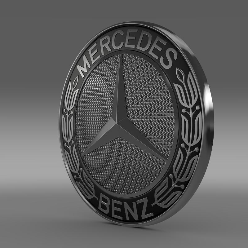 mercedes-benz logo 3d model 3ds max fbx c4d lwo ma mb hrc xsi obj 152939