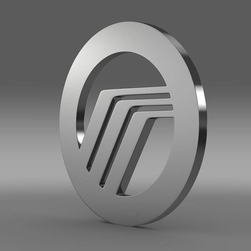 mercury logo 3d model 3ds max fbx c4d lwo ma mb hrc xsi obj 119361