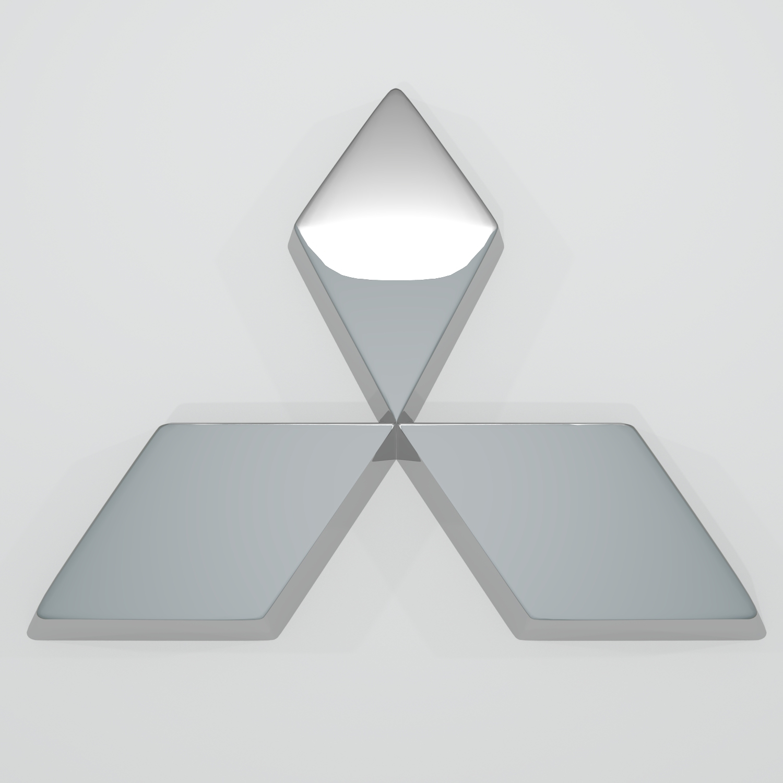 mitsubishi logo v1 3d model blend obj 140880
