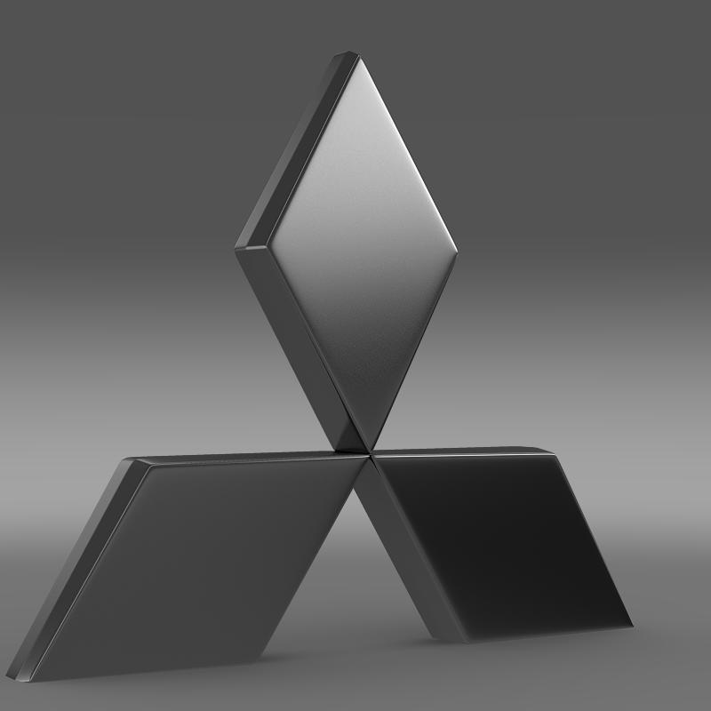 mitsubishi logo 3d model � buy mitsubishi logo 3d model