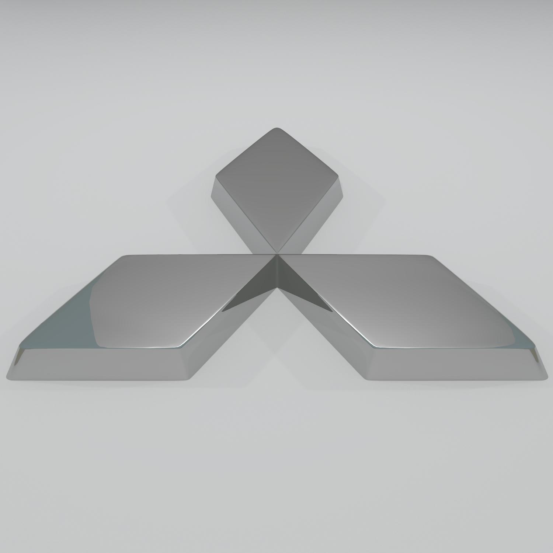 mitsubishi logo v1 3d model � buy mitsubishi logo v1 3d