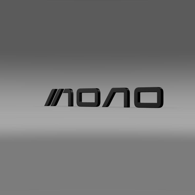 mono logo 3d model 3ds max fbx c4d lwo ma mb hrc xsi obj 152953