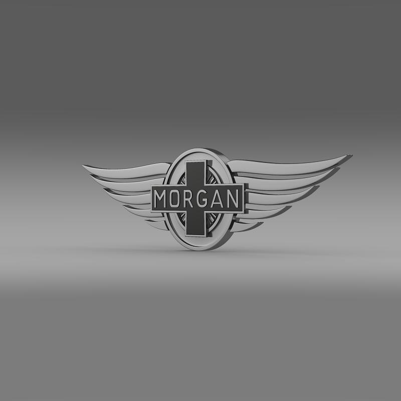 morgan logo 3d model 3ds max fbx c4d lwo ma mb hrc xsi obj 124463