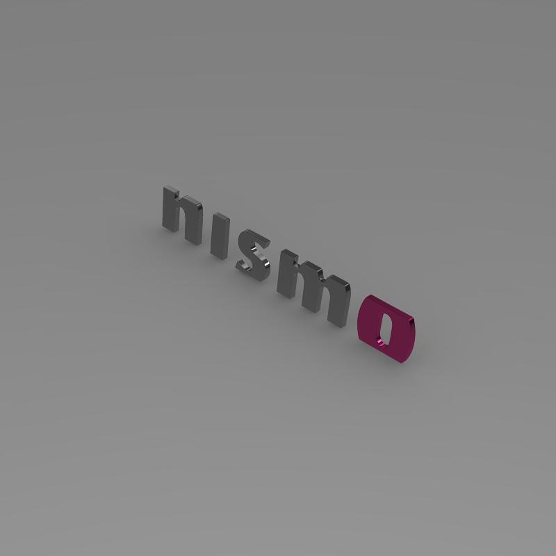 nismo logo 3d model 3ds max fbx c4d lwo ma mb hrc xsi obj 152449