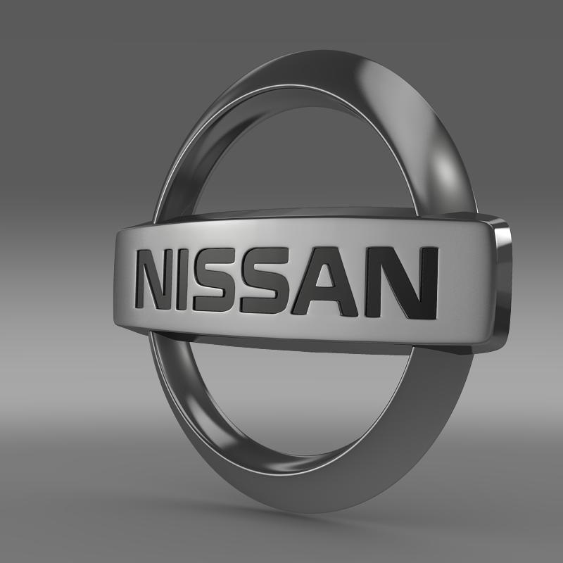nissan logo 3d model 3ds max fbx c4d lwo ma mb hrc xsi obj 118126