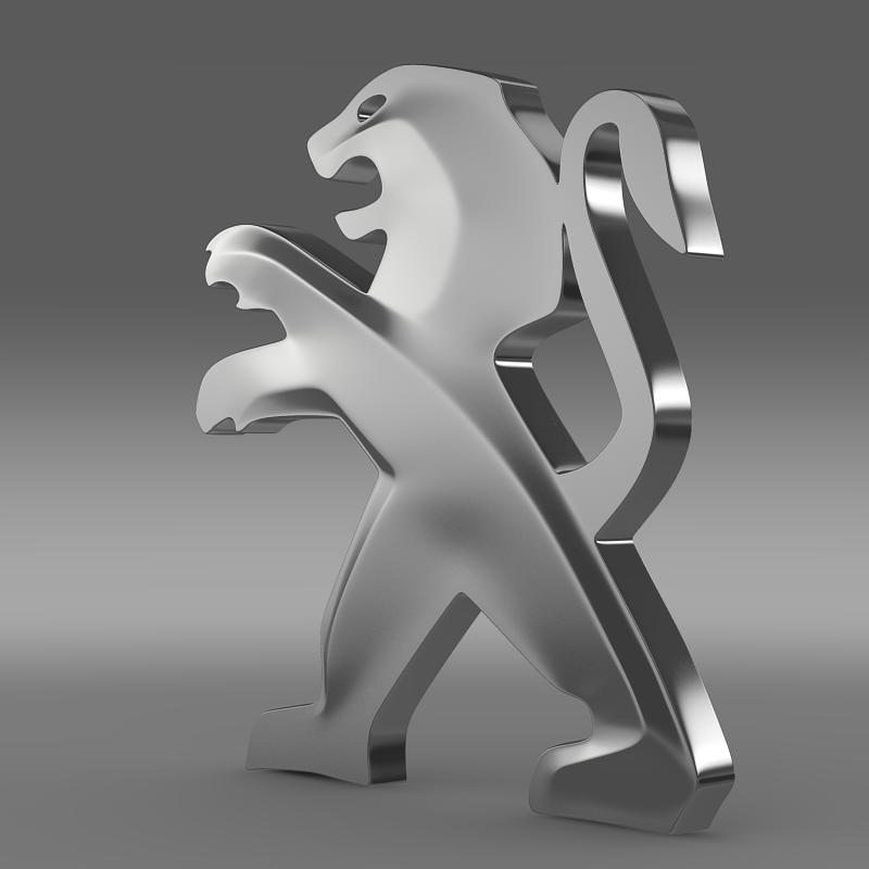 peugeot logo 3d model 3ds max fbx c4d lwo ma mb hrc xsi obj 121721