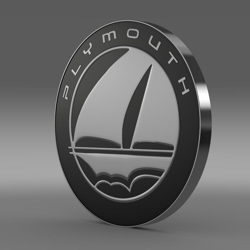 plymouth logo 3d model 3ds max fbx c4d lwo ma mb hrc xsi obj 152492