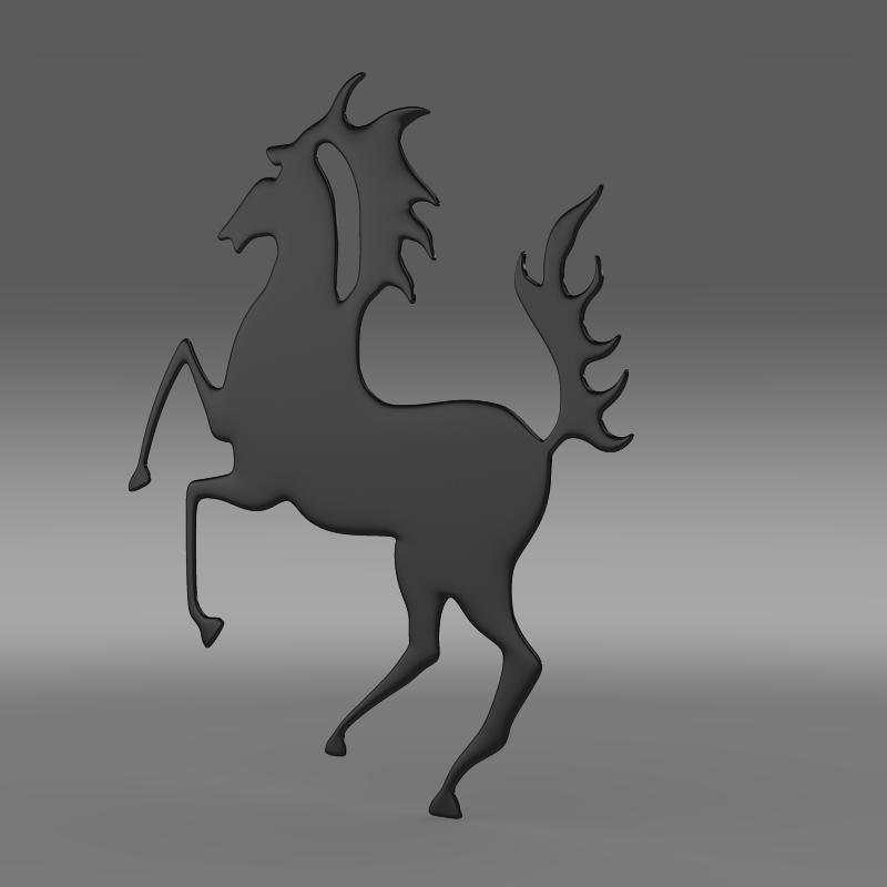 porsche zirgu logo 3d modelis 3ds max fbx c4d lwo ma mb hrc xsi obj 151764