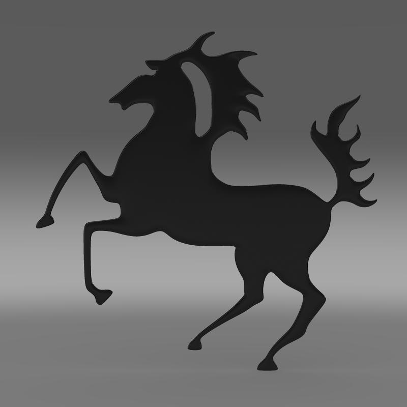porsche horse logo 3d model 3ds max fbx c4d lwo ma mb hrc xsi obj 151765