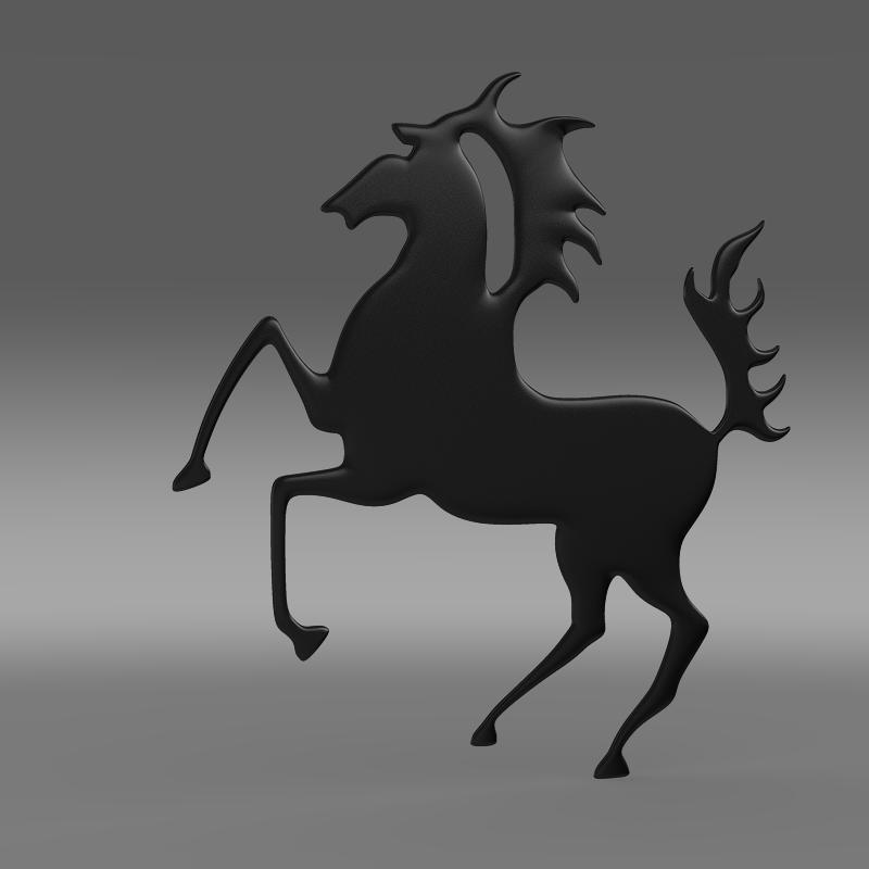 porsche horse logo 3d model 3ds max fbx c4d lwo ma mb hrc xsi obj 151766
