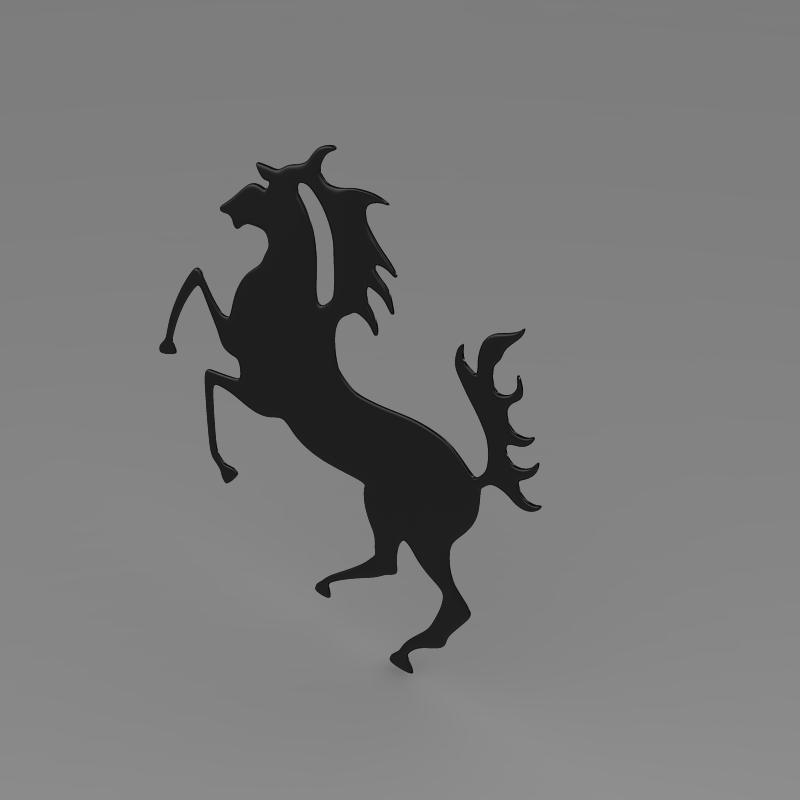 porsche horse logo 3d model 3ds max fbx c4d lwo ma mb hrc xsi obj 151767