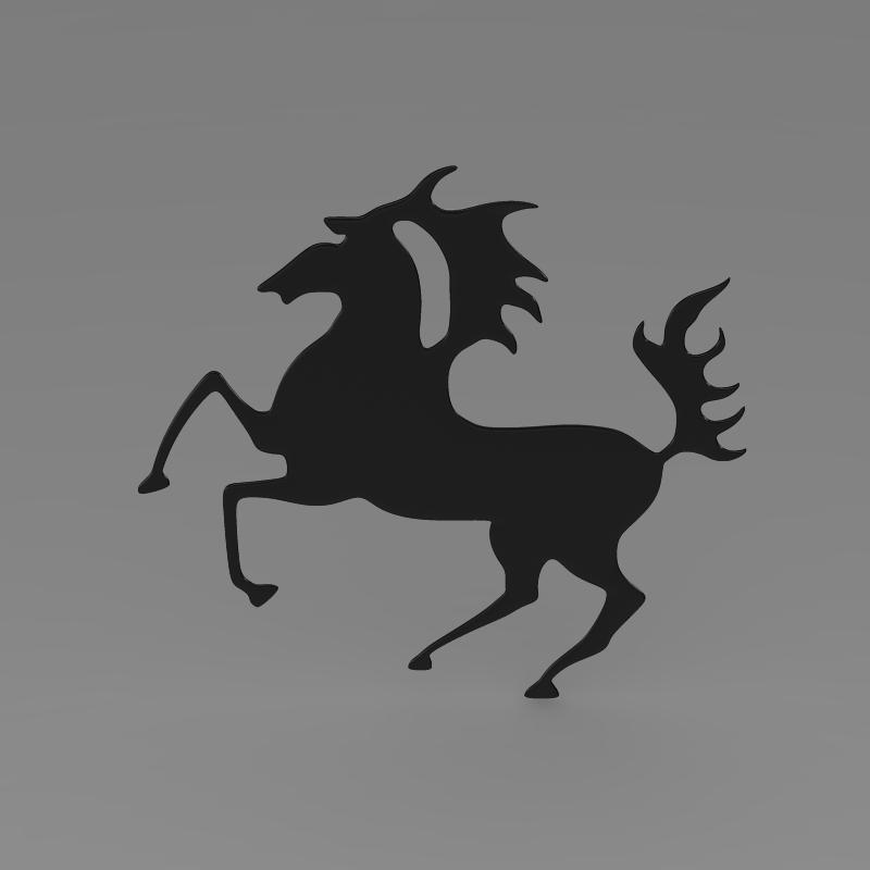 porsche horse logo 3d model 3ds max fbx c4d lwo ma mb hrc xsi obj 151768
