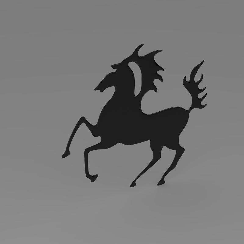 porsche horse logo 3d model 3ds max fbx c4d lwo ma mb hrc xsi obj 151769