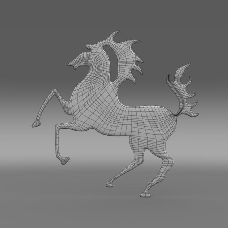 porsche horse logo 3d model 3ds max fbx c4d lwo ma mb hrc xsi obj 151770