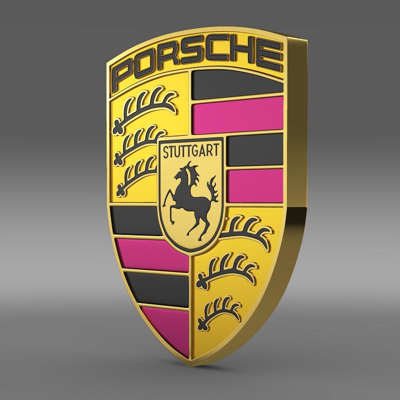 porsche logo 3d model 3ds max fbx c4d lwo ma mb hrc xsi obj 119438