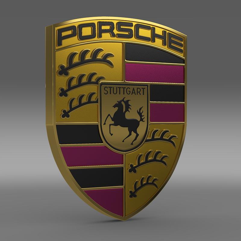 porsche logo 3d model 3ds max fbx c4d lwo ma mb hrc xsi obj 119440