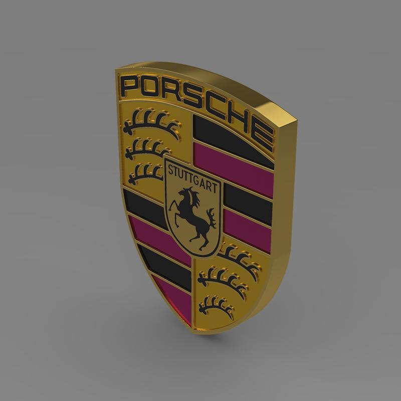 Porsche Logo 3d Model